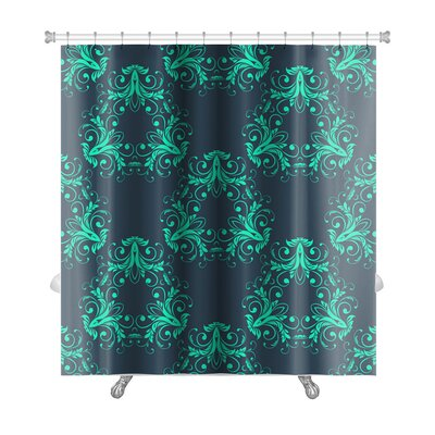 Simple Abstract Vintage Damask Pattern Premium Shower Curtain