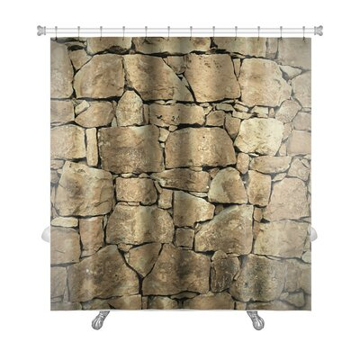 Wood Stone Wall Premium Shower Curtain