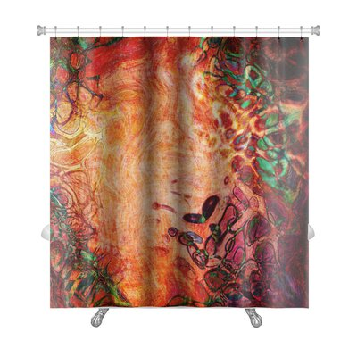 Art Beta Watercolor Abstract Pattern Computer Generated Premium Shower Curtain