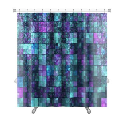 Kilo Mosaic with Abstract Color Premium Shower Curtain