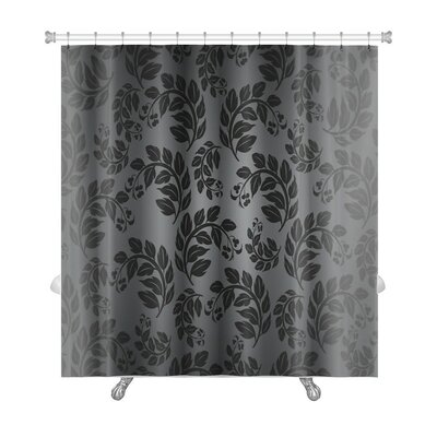 Cappa Beautiful Nature Leaf Pattern Premium Shower Curtain