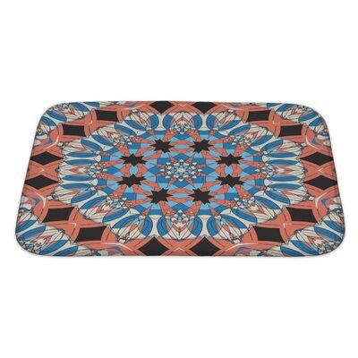 Delta Mandala Ornament Vintage Pattern Bath Rug Size: Large