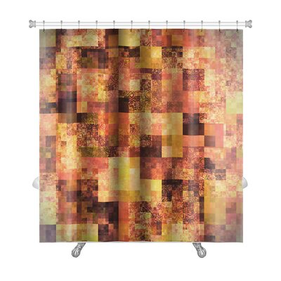Art Touch Abstract Bright with Mosaic Premium Shower Curtain