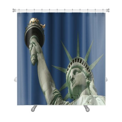 Patriotic Statue of Liberty on Liberty Island in New York City Premium Shower Curtain
