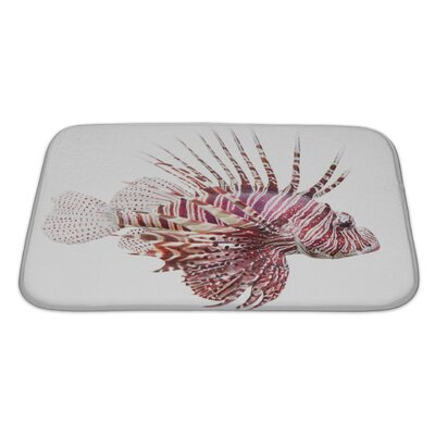 Fish Lionfish, Pterois Volitans Bath Rug Size: Large