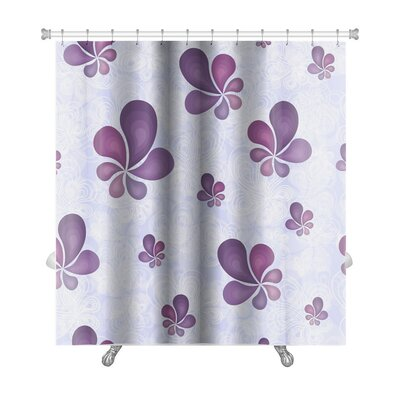 Nature Beautiful Leaf Pattern Premium Shower Curtain