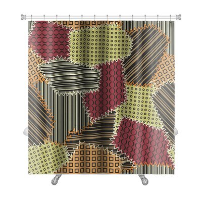 Beta with Patchwork Premium Shower Curtain