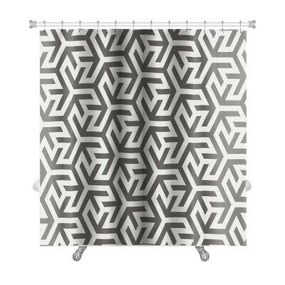 Kilo Pattern Arabic Geometric Islamic Art Premium Shower Curtain