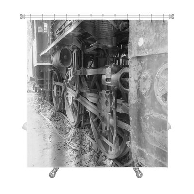 Vintage Train Wheels Premium Shower Curtain