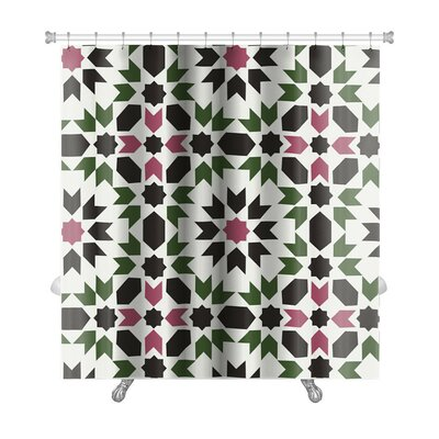 Charlie Islamic Geometric Premium Shower Curtain