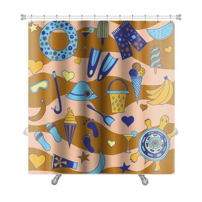 Marine Interesting with Beach Premium Shower Curtain