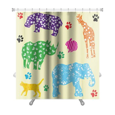 Animals with Patterns Premium Shower Curtain