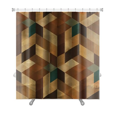 Delta Vintage Pattern Abstract Premium Shower Curtain Color: Brown