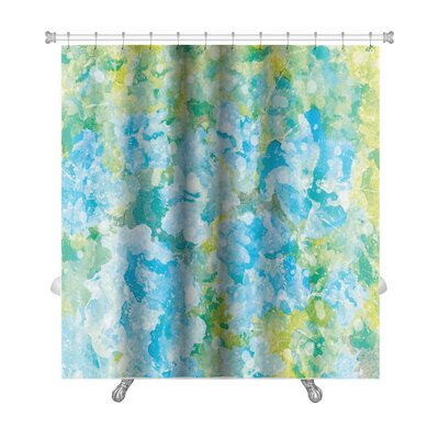 Art Primo Abstract Watercolor Flower Premium Shower Curtain