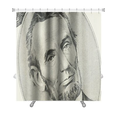 Patriotic US Dollar Bill in a Macro Shot Premium Shower Curtain