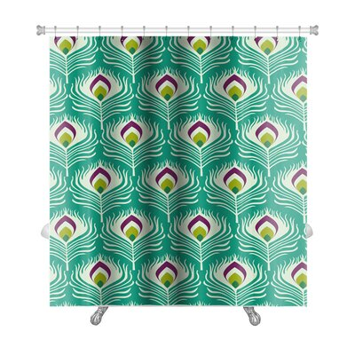Charlie with Peacock Feather Premium Shower Curtain