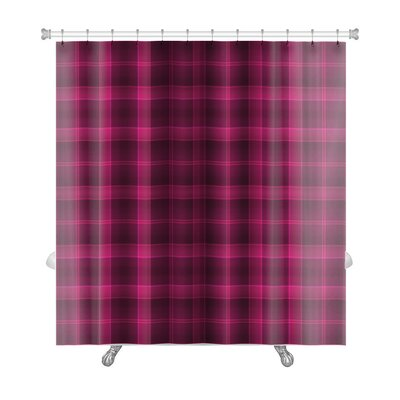 Beta Bold Tartan Plaid and Deep Raspberry Premium Shower Curtain