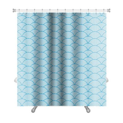 Gecko Chinese Cloud Shower Curtain