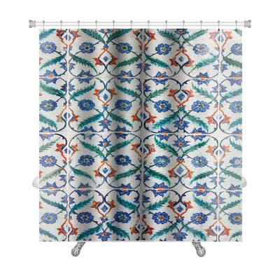 Creek Ancient Traditional Handmade Tiles Premium Shower Curtain
