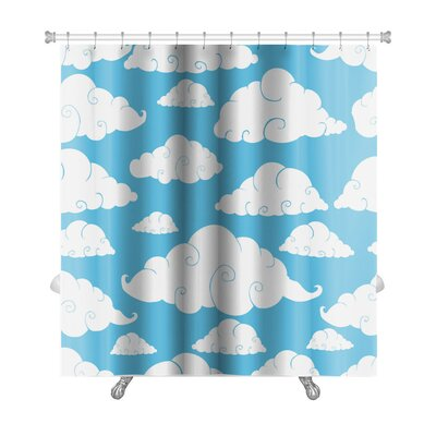 Charlie Cloud Pattern Premium Shower Curtain