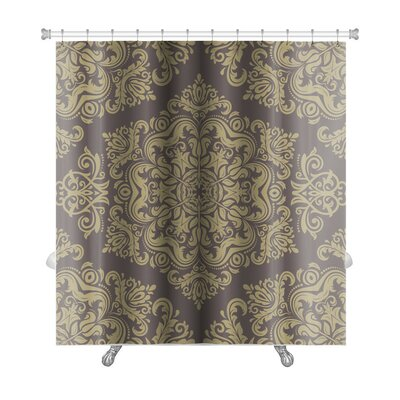 Primo Damask Pattern with Fine Traditional Oriental Ornaments Premium Shower Curtain