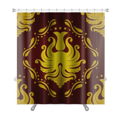 Slide Retro Vintage Victorial Baroque Premium Shower Curtain