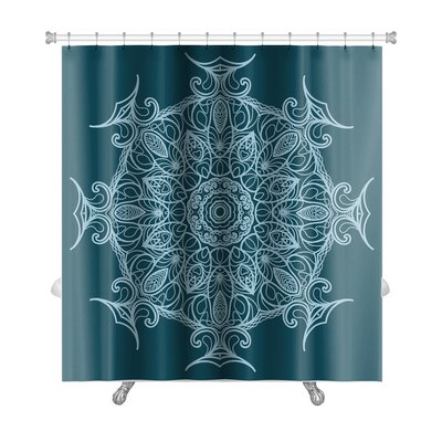 Delta Circular Ornament Premium Shower Curtain