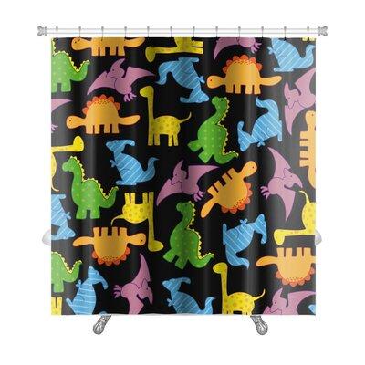 Dinosaurs Dinosaurs Pattern Premium Shower Curtain