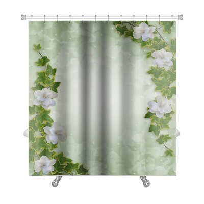 Alpha Flowers Premium Shower Curtain
