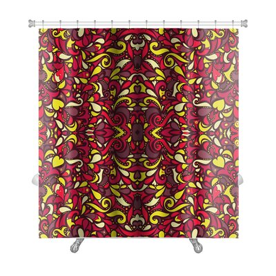 Gecko Mosaic Leaf Premium Shower Curtain