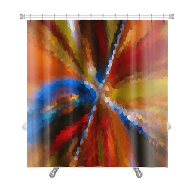 Art Alpha Abstract Blurred Effect, Bright Colors Rainbow Gradient Premium Shower Curtain