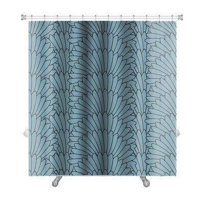 Simple Pattern Abstract Stylish Array Premium Shower Curtain
