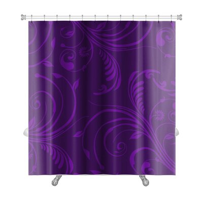 Bravo Elegant Stylish Abstract Floral Premium Shower Curtain