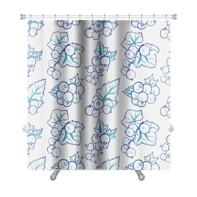 Delta Currant in Doodle Style Premium Shower Curtain
