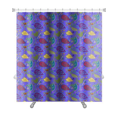 Simple Hand Painted Leaves Floral Leaf Premium Shower Curtain