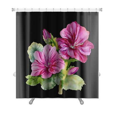 Flowers Colorful Flowers Premium Shower Curtain