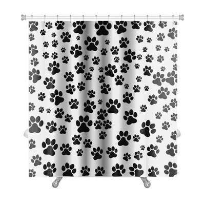 Cappa Dog Footprint Over Premium Shower Curtain
