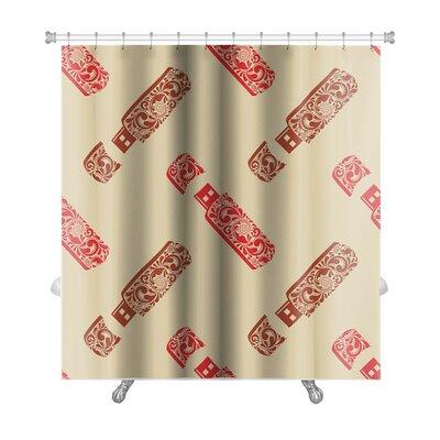 Charlie Vintage Premium Shower Curtain