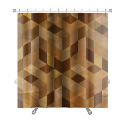 Delta Vintage Pattern Abstract Premium Shower Curtain Color: Brown/Sand