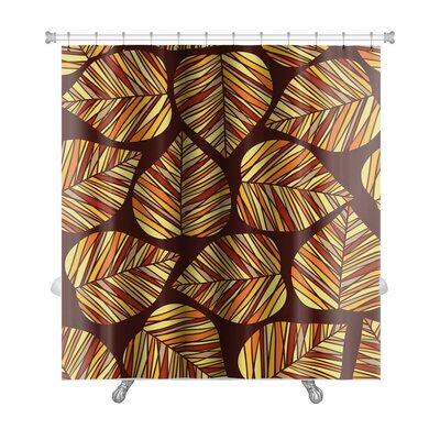 Leaves Stylized Autumn Leaf Premium Shower Curtain
