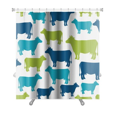 Animals Cow Silhouette Premium Shower Curtain