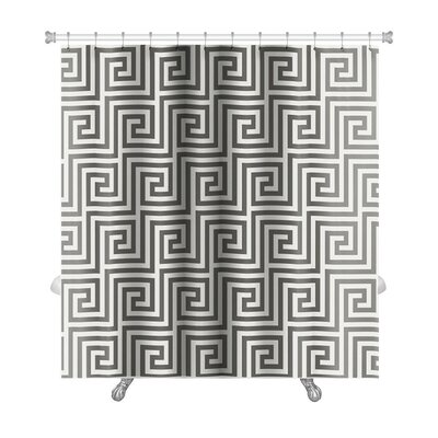 Kilo Pattern Arabic Geometric Islamic Art Premium Shower Curtain