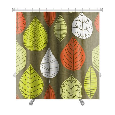 Leaves Autumn Leaf Premium Shower Curtain