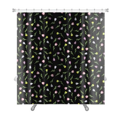 Creek Tulips Vintage Cute Spring Summer Tiny Flower Pattern Floral Premium Shower Curtain