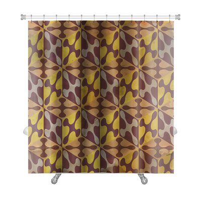 Gamma Vintage Pattern Abstract Premium Shower Curtain Color: Burgundy/Yellow