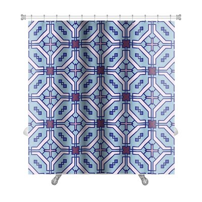 Delta Islamic Wallpaper Arabic Colorful Geometric Premium Shower Curtain