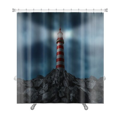 Marine Lighthouse Clearing the Path Premium Shower Curtain