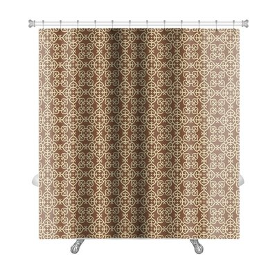 Primo Arabesque Islamic Pattern, Premium Shower Curtain