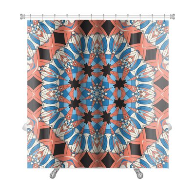 Delta Mandala Ornament Vintage Pattern Premium Shower Curtain