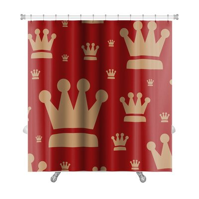 Bravo Wallpaper Vintage Premium Shower Curtain